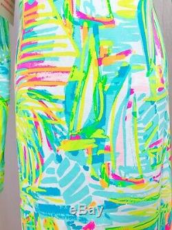 Lilly Pulitzer Rylie Dress Sz L Sea Salt Sun Beach Swim Hooded Cover Up UPF 50
