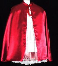 Little Red Riding Hood Deluxe Dress 6 pc Costume OutfitSatin Capesz M (3-5)