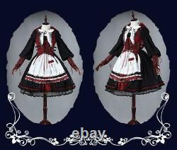 Little Red Riding Hood Dress Cape Cosplay costume Lolita Full Set Dark version