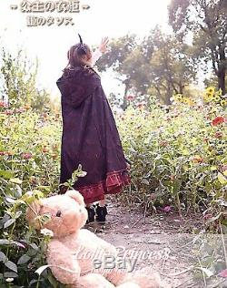 Lolita princess dress Vintage Lace Hooded Sweet Autumn Windbreaker Red Cloak