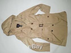 London Fog British Khaki trench rain dress Coat w rem hood size XXL / 2X