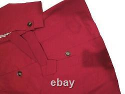 London Fog Chili Red trench rain dress Coat w rem hood women's size XL nwt