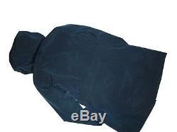 London Fog Dark Teal trench rain dress Coat w rem hood women's size 2XL XXL nwt