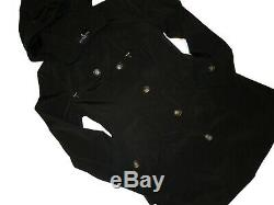 London Fog Trench rain dress Coat w rem hood Black size Large L