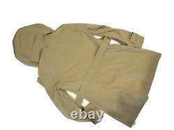 London Fog Trench rain dress Coat w removable hood British Khaki size Small S