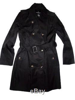 London Fog women's Black trench rain dress Coat size Small