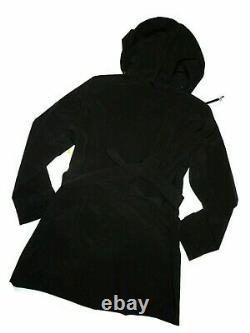 London Fog women's Black trench rain dress Coat size XL nwt