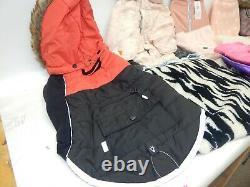 Lot 8 Top Paw Girl Dog Hooded Coat Jacket Sweater Dress Reflective Large LED NWT