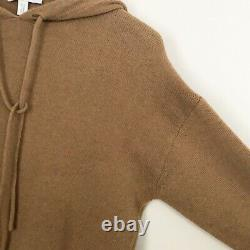 MAX MARA Camel Brown Cashmere Blend Sweater Hooded Dress Size 2