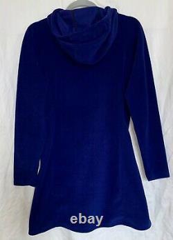 MELANZANA Womens Med Hodded Micro Grid Dress Blue Surf Melly Hiking Outdoors