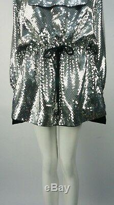 MOSCHINO H&M Jeremy Scott Sequinned Hooded dress Size M BNWTS