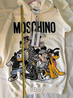 MOSCHINO TV H&M Disney Hooded Dress Long Hoodie UK S Oversized 8 10 12 Sold Out