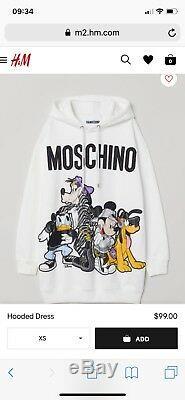 MOSCHINO TV H&M hooded dress (white/xs) MOSCHINO x HM