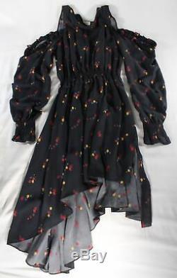 Magda Butrym $1740 Black Funchal Asymmetrical Hoodie Dress (ohhhhh!) Fr 38/6