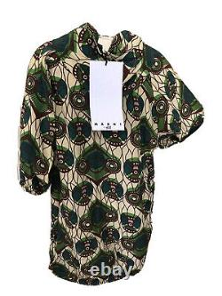 Marni For H&m Rare Retro Ethnic Silk Hooded Parka Coat Dress Uk 8 Eu 34 Xs Bnwt