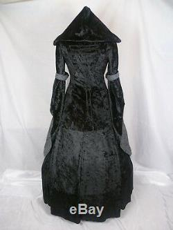 Medieval Dress Renaissance Hooded Gown Gothic Dress Custom Made to size