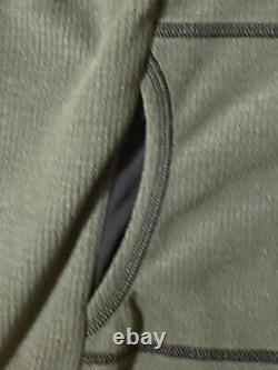 Melanzana Micro Grid Hooded Dress Hoodie XL Womens Thyme