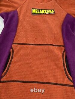 Melanzana Micro Grid Hoodie Dress L Ochre/phlox Sticker New 2020 Spring Weight