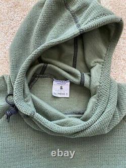 Melanzana Micro Grid Hoodie Dress Womens Small Port/Thyme
