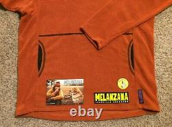Melanzana Micro Grid Hoodie Men's Large (L) Ochre/Orange Color Brand New