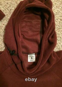 Melanzana Micro Grid Hoodie Men's Large (L) Port/Burgundy Color Brand New