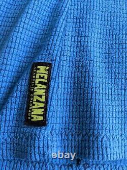 Melanzana MicroGrid Fleece Dress Hoodie Women Small Blue micro grid US made