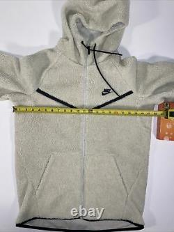 Mens Nike Tech Cream Sherpa Fleece Suit Size Medium Good Condition Pre-owned