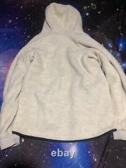 Mens Nike Tech Cream Sherpa Jacket Full Zip Hoodie Sz Small With Pants Sz M