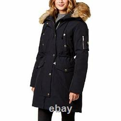 Michael Kors Women's Faux Fur Trim Hooded Down Parka Coat, 2X-Small, Med Green