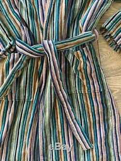 Missoni Meduim Towelling Velour Hooded Mens Dressing Gown With Hood