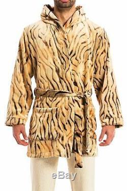 Modus Vivendi S/34-36 Tiger Robe faux fur men's short dressing gown hood gift