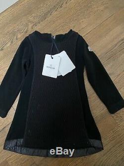 Moncler Girl Toddler Black Hooded Dress Size 3