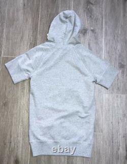 Moncler Girls Grey Hooded Dress Age 8 Yrs BNWT
