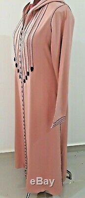 Moroccan Royal Jellaba Caftan With Design Dubai Long Dress Hooded kaftan