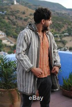 Moroccan kaftan dress Berber Djellaba coat jacket for men and women 100 % wool