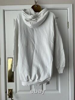Moschino For H&M Disney Hooded Dress / Hoodie White Approx UK Size 10 H&Moschino