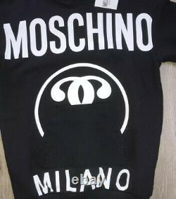 Moschino Girls Black Logo Jumper Dress BNWT AGE 5YRS RRP £140