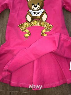 Moschino Girls Teddy Dress AGE 5 Yrs BNWT RRP £155