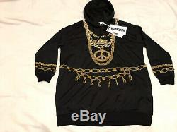 Moschino H&M Black Sparkly Hooded Jersey dress size L