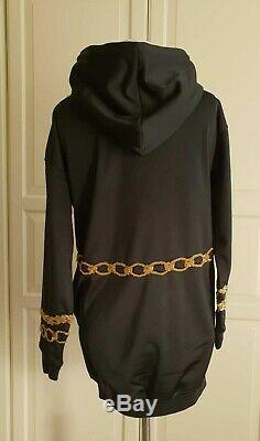 Moschino H&M H&MOSCHINO Kleid Gold-Appl. Sweater Dress embroidered hooded Size M