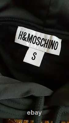 Moschino H&M H&MOSCHINO Kleid Gold-Appl. Sweater Dress embroidered hooded Size S