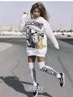 Moschino X H&M Women Disney Group Appliqué White Hooded Dress Large