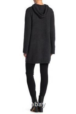 NEW 360 Cashmere Alexina Hooded Sweater Dress in Graphite Size S #D2937