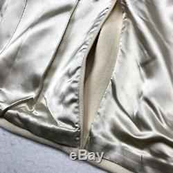 NEW Banana Republic Womens Coat Wool White Ivory Large
