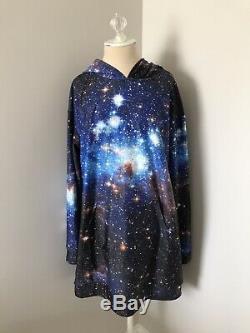 NWOT Black Milk Blue Galaxy Stars Print Museum Limited Slouchy Dress XL