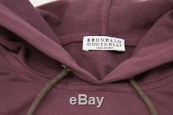 NWT $3245 Brunello Cucinelli Cotton Knit Hoodie Dress WithSparkly Beading SzM A191