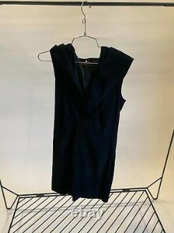 NWT $3300+ Jitrois Women's Boxon Hooded Black Suede Dress 40FR 8US
