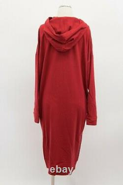 NWT$5945 Brunello Cucinelli 100% Cashmere Knit Hoodie Dress WithBeading SizeM A191