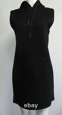 NWT ALEXANDER WANG. T $330 Scuba Neoprene Hooded Dress Size Small