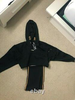NWT Adidas X Ivy Park Drip 2.2 Black Pack Hooded Cutout Dress Size XS